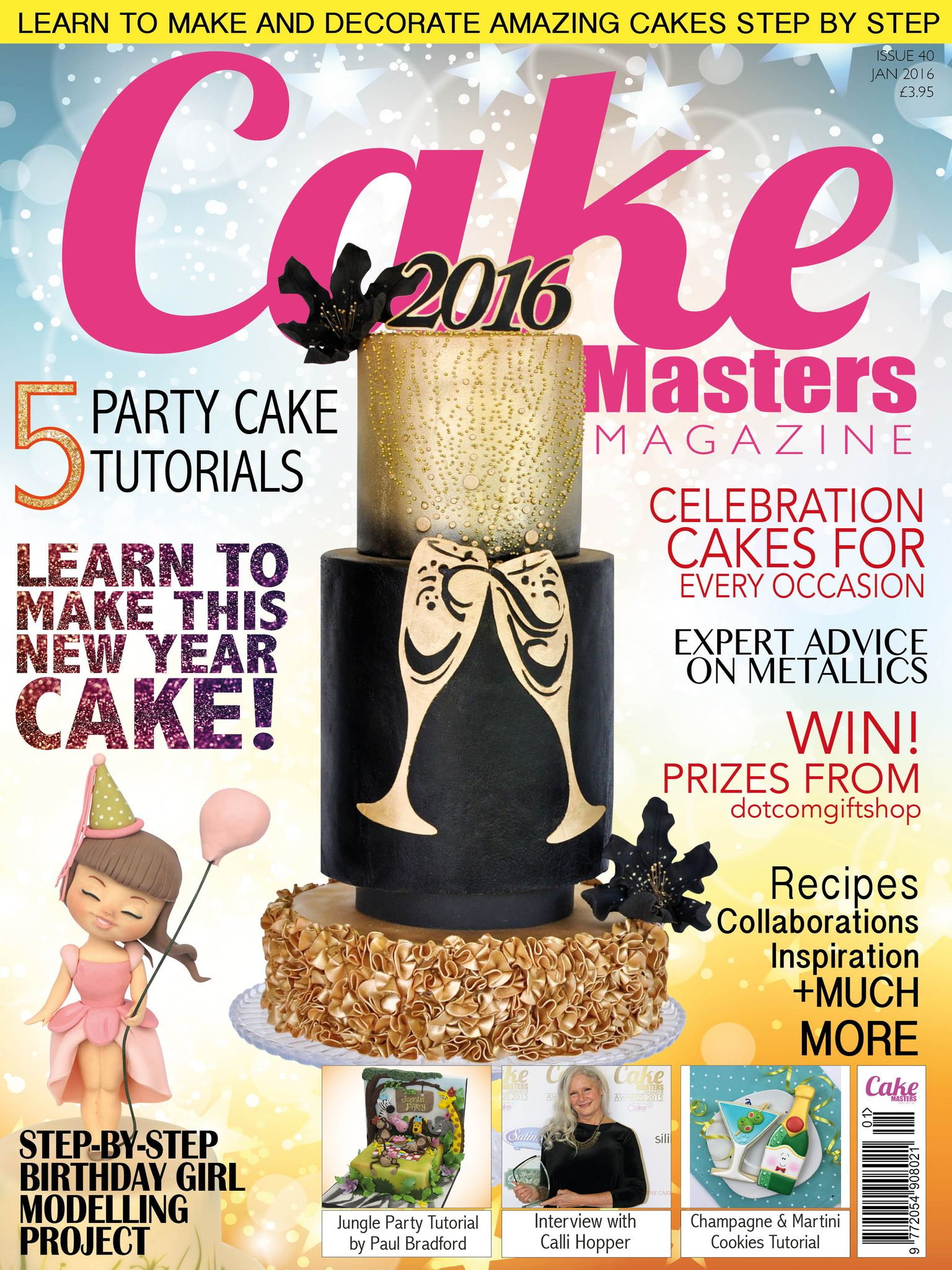 JAN 2016 cake decorating magazine cake masters