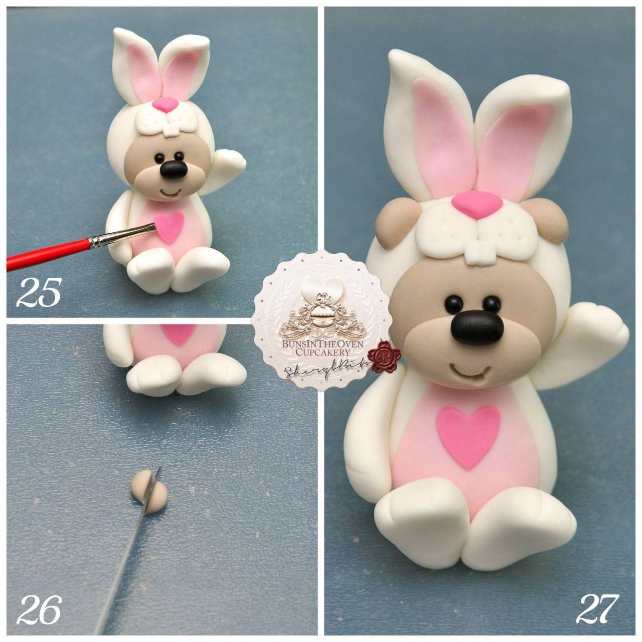 Bunny Bear Modelling Cake Topper Tutorial