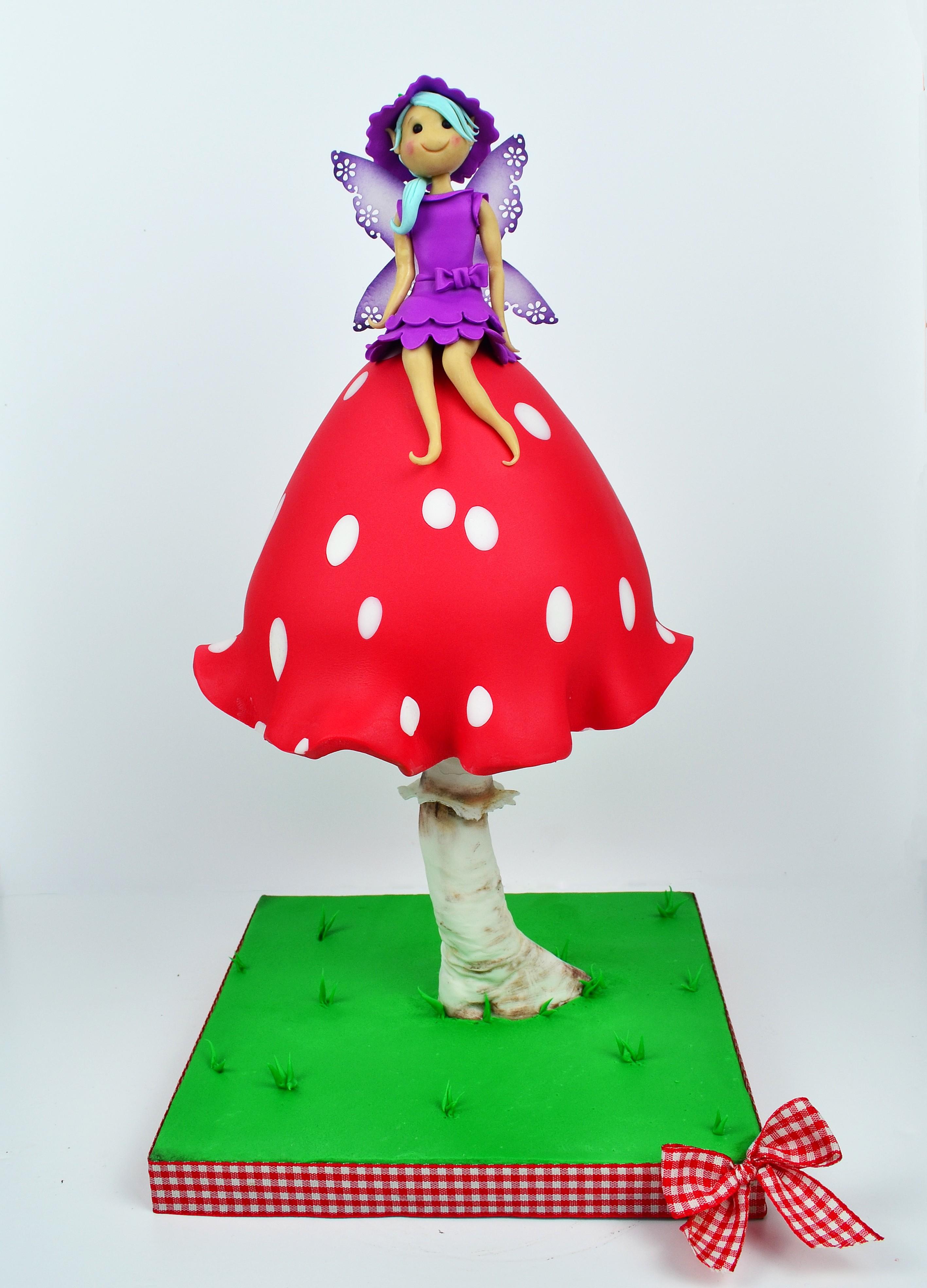 FAIRY FINAL Mushroom cake Tutorial