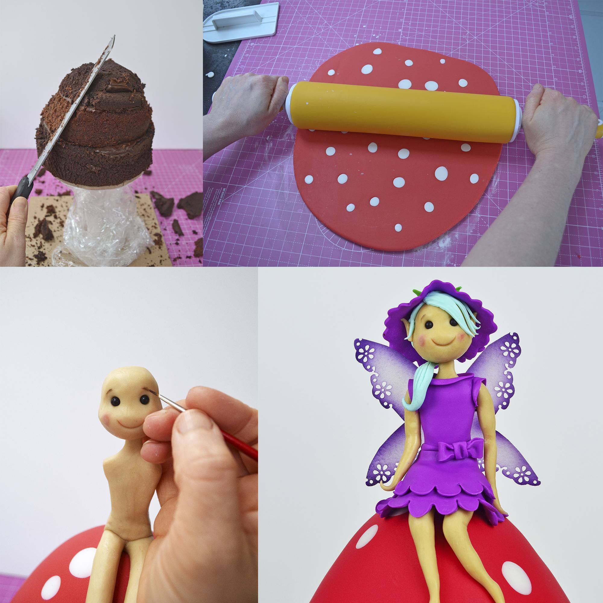 Fairy Mushroom cake Tutorial