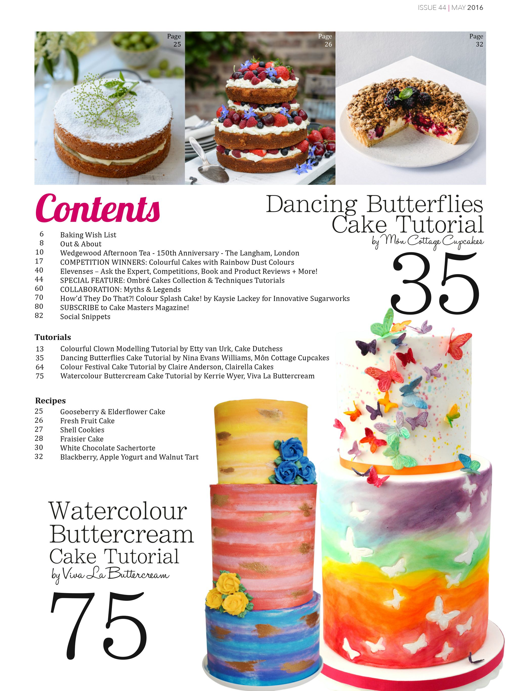 Inside May 2016 Cake Masters Magazine