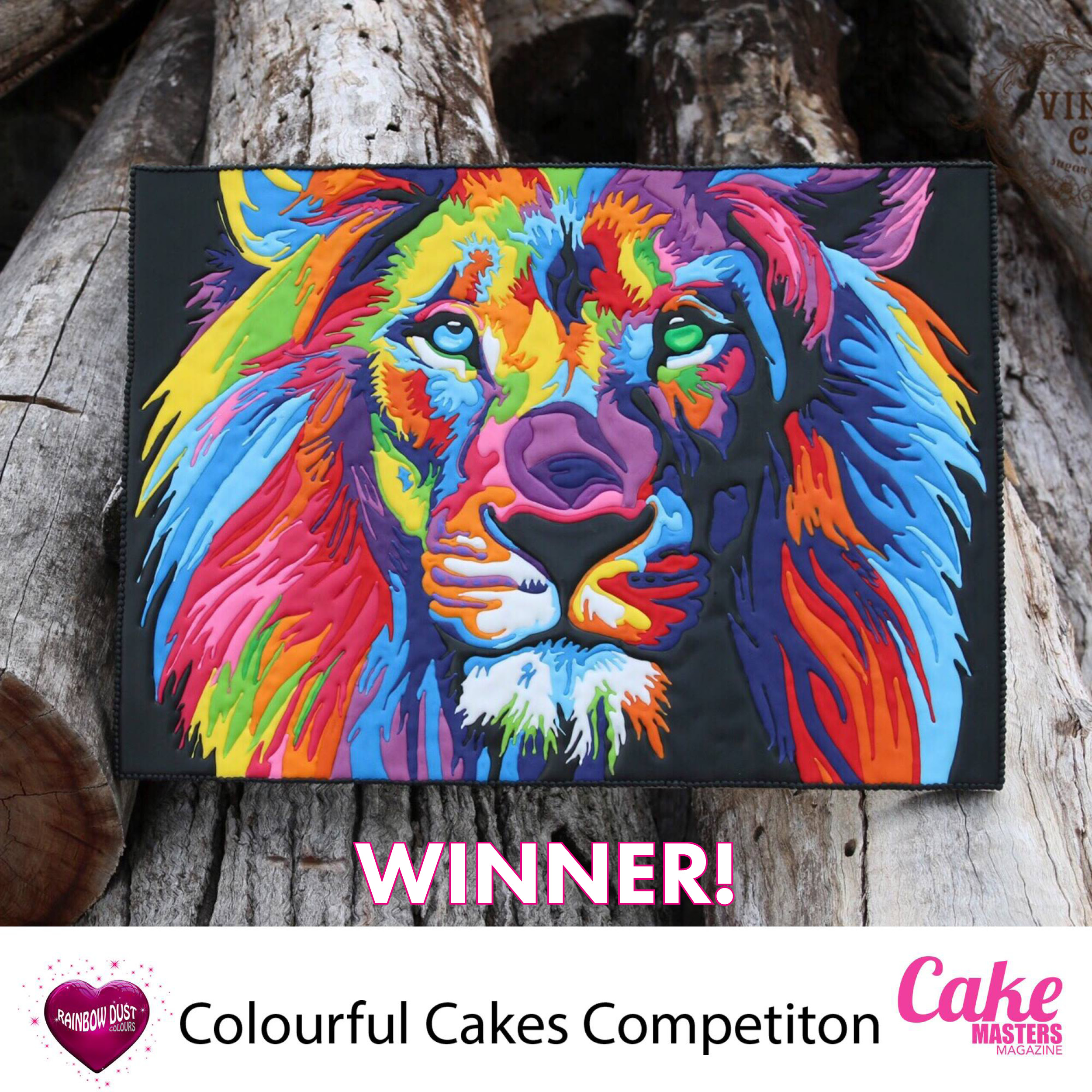 Colourful Cakes Comp FB Winner Anita Human, Vintique Cakes
