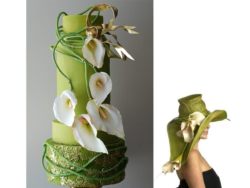 Albena Petrova - Sweet Temptations - Custom Cakes By Albena. Hat inspiration: Hatsonheads Designer Millinery www.hatsonheads.com