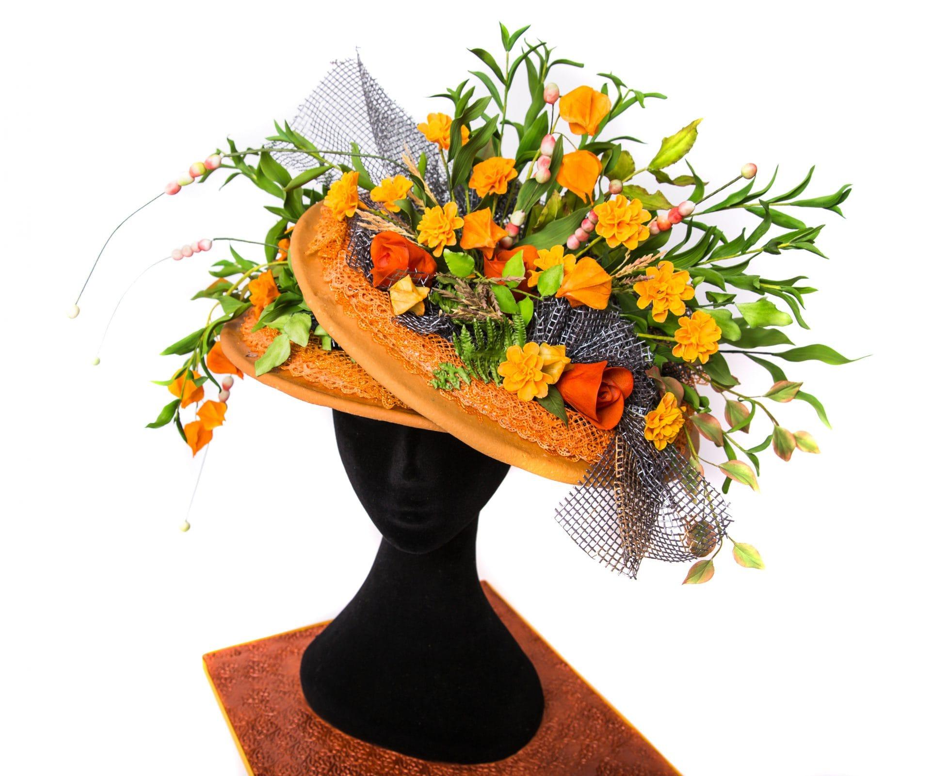 Karen Blackwell - Butterfly Cakes and Bakes. Hat Inspiration: Neil Whittaker at Design Element Flowers www.designelementflowers.com