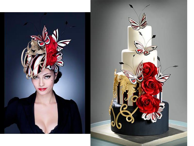Cinzia D'Adamo - Cinzia D'Adamo Cakes Hat Inspiration: Guibert Millinery Guibertmillinery.com