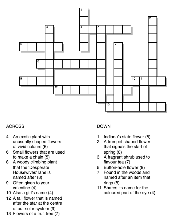 FMM Crossword