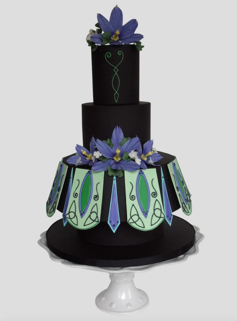 Irish dance costume cake design in Cake Masters Magazine.
