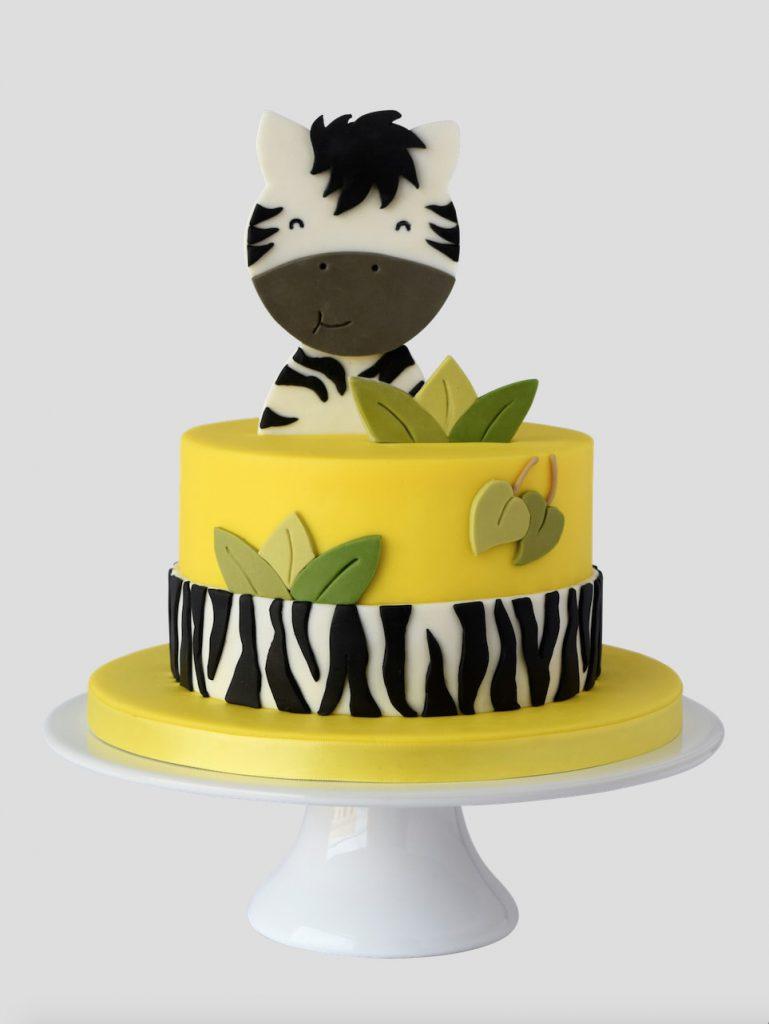The Happy Zebra 2d Topper Cake Masters Magazine
