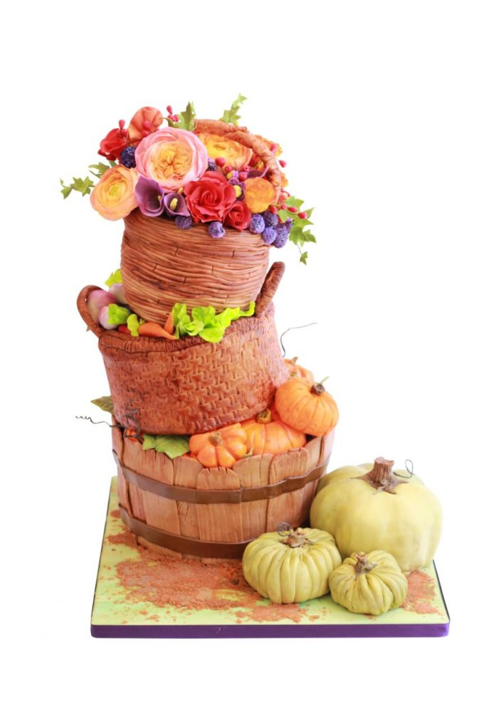 Cake Masters Magazine - Bountiful Baskets Cake
