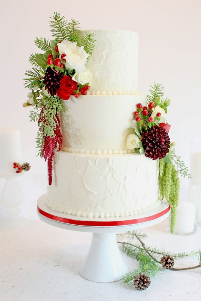 Cake Masters Magazine - Christmas Wedding Cake