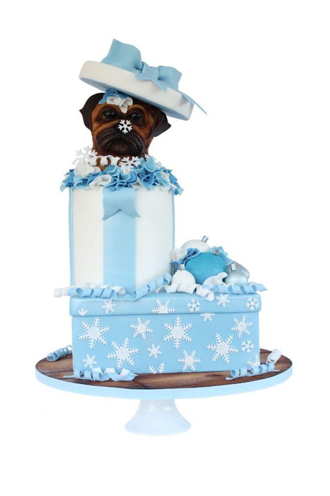 Cake Masters Magazine - Winter The Grumpy Pug Cake
