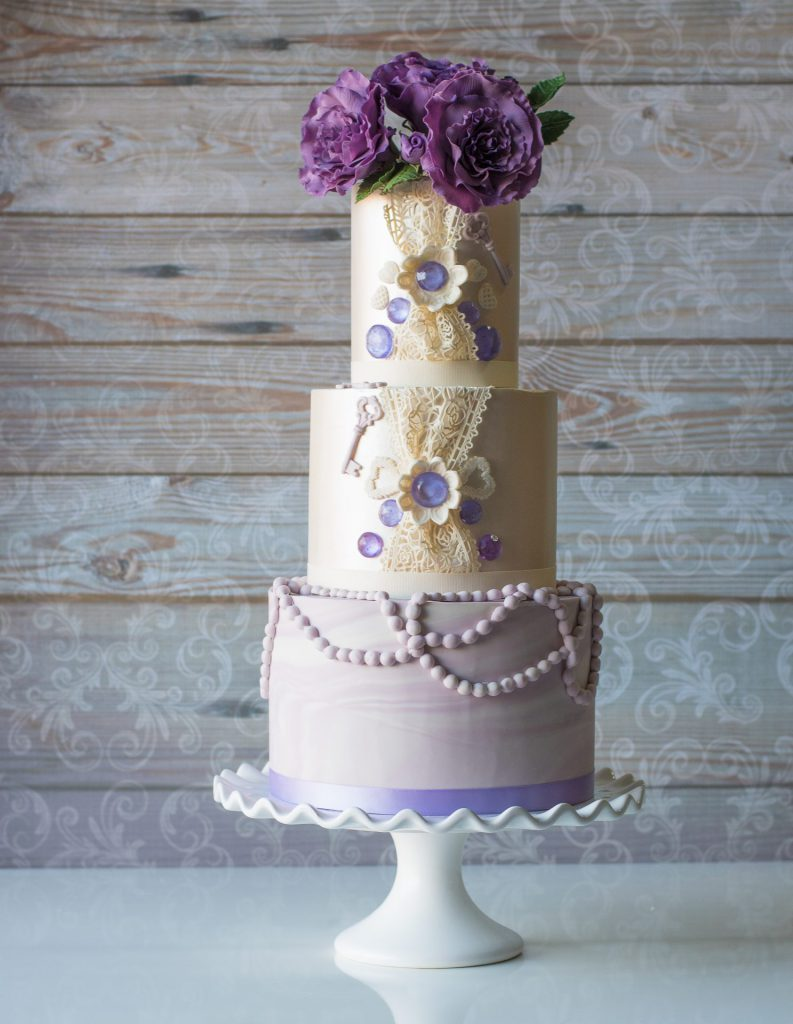 CMM FEB18 - Lavender Pearls - Tiffany Popowich, Cakes By Tiffy
