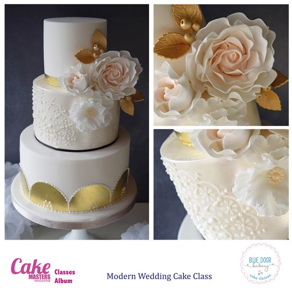 Modern Wedding Cake Class at Blue Door Bakery