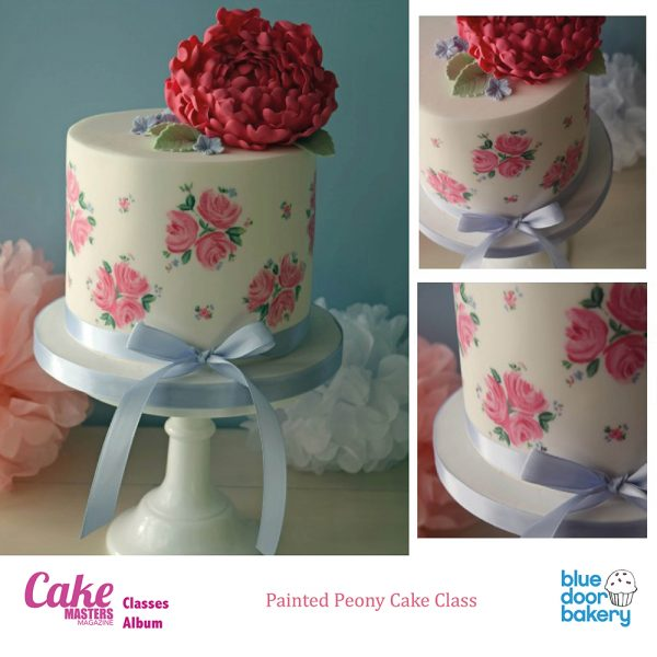 Painted Peony Cake Class at Blue Door Bakery