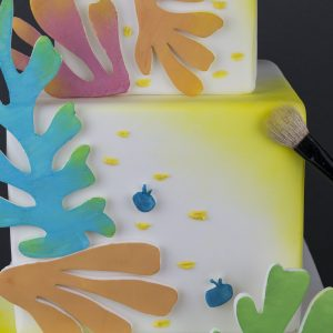 Painted Cut Out Cake
