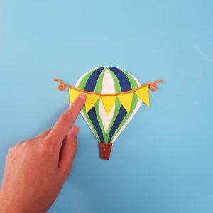 Hot Air Balloon Cupcake Board