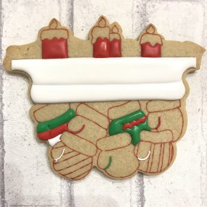 Hanging Mittens Cookies Art by Shirlyn