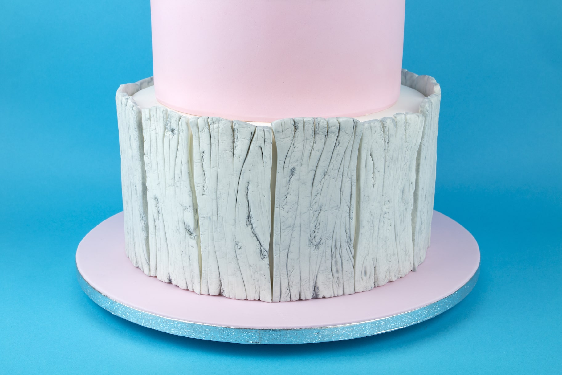 Pink Winter Wedding Cake