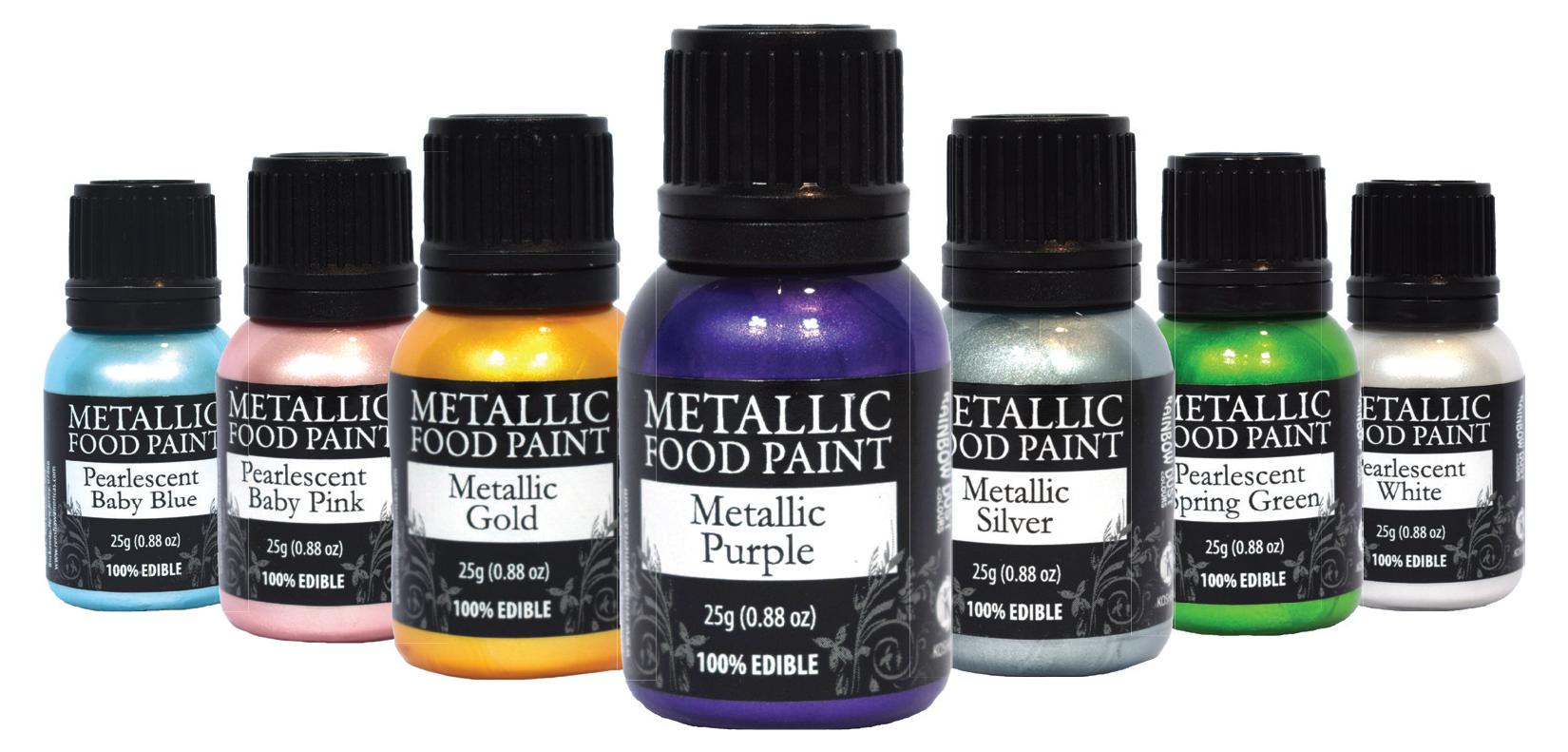 Metallic Food Paints