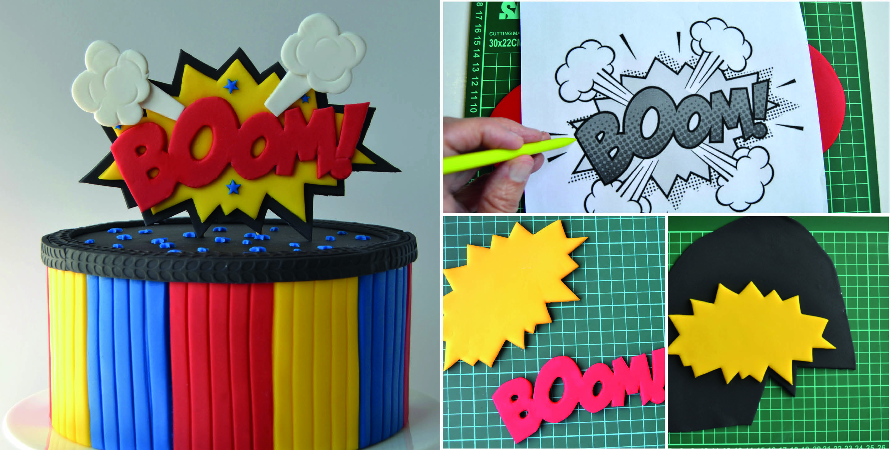 Comic Strip Cake Topper Tutorial Cake Masters Magazine