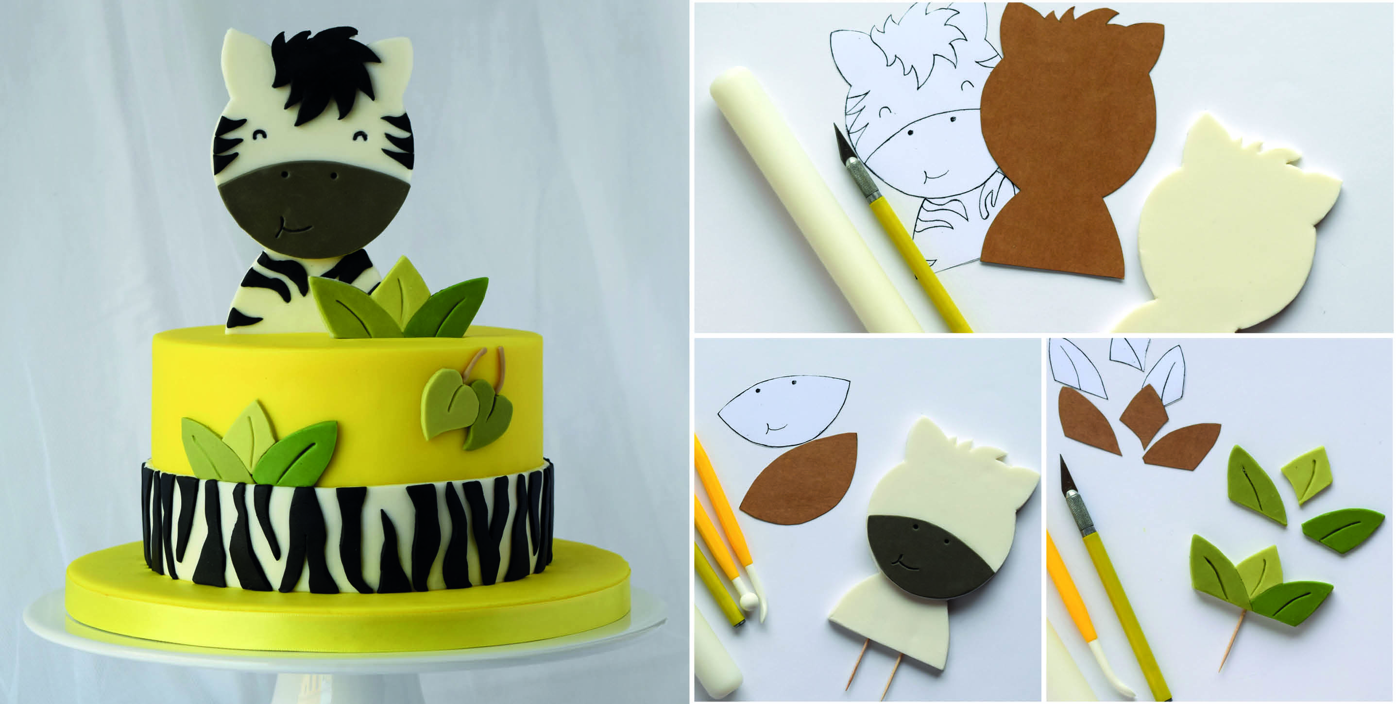 Happy Zebra Cake Topper Tutorial Cake Masters Magazine