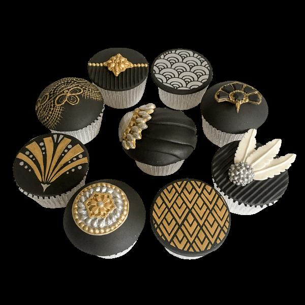 Tutorial: Art Deco Cupcakes