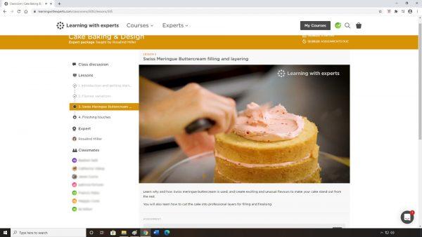 Cake Baking & Design Online Course