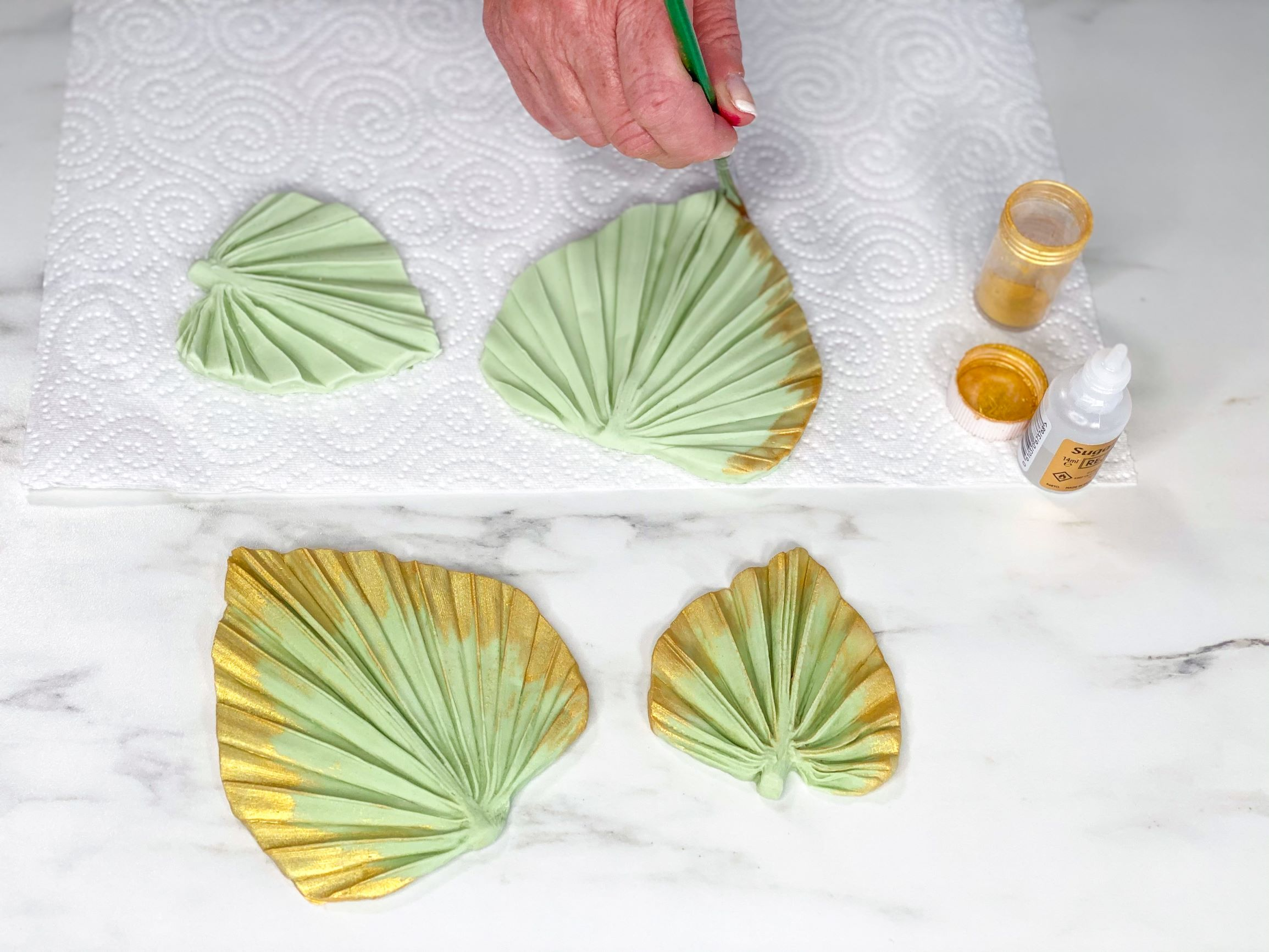 Create Leaves with Palm Spear Moulds
