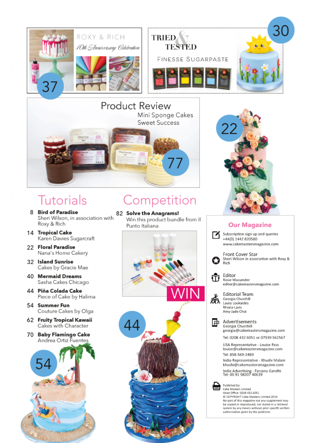 Tropical Summer Cakes August 2021 Cake Masters Magazine