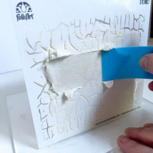 Add texture with a crackle stencil