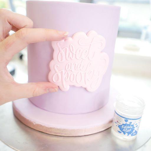 Emboss and cut sugarpaste